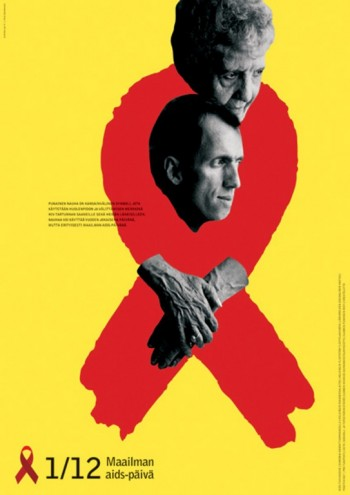 Aids Posters: Finland. Image via http://jump.dexigner.com/news/22023.