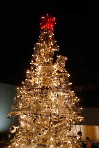 Shopping Cart Christmas Tree by Anthony Schmitt.
