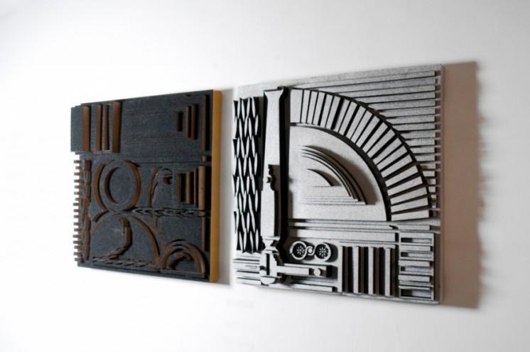 Architectural Acoustics wall panel by Niek Pulles. Photo: Femke Reijerman.