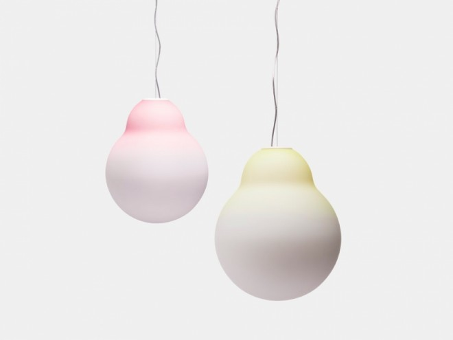 Pink light & Yellow light for Established & Sons. Image: Scholten & Baijings.