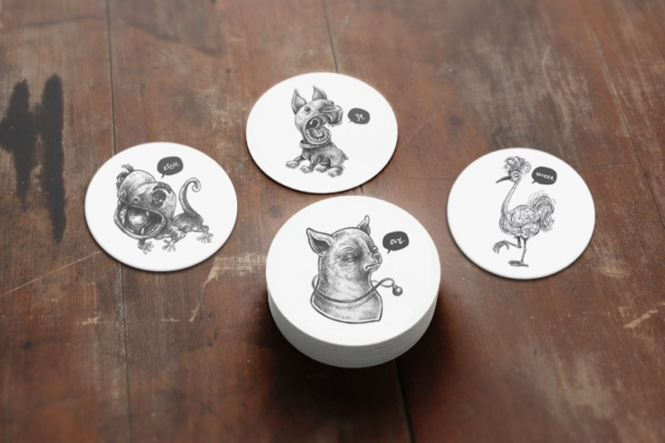Amy Slatem's illustrated coasters
