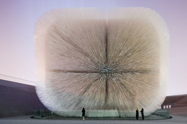 Seed Cathedral by Thomas Heatherwick. Image: Iwan Baan.