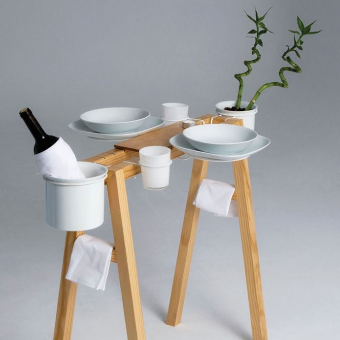 Sweet and simple design indaba for Dining table solutions for small spaces