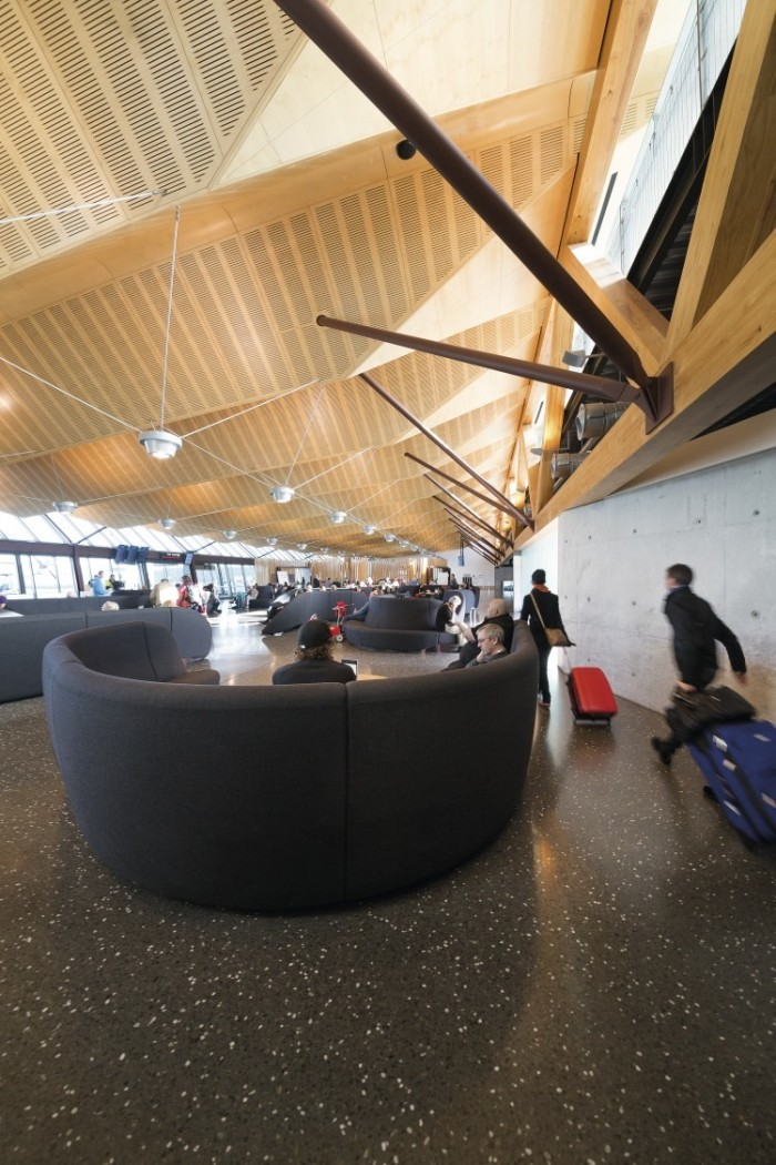 Regional Terminal at Christchurch Airport by BVN Donovan Hill (Christchurch, New Zealand).