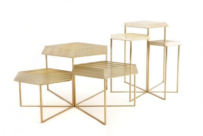 """Hex Coffee & Side Tables"" by Haldane Martin"