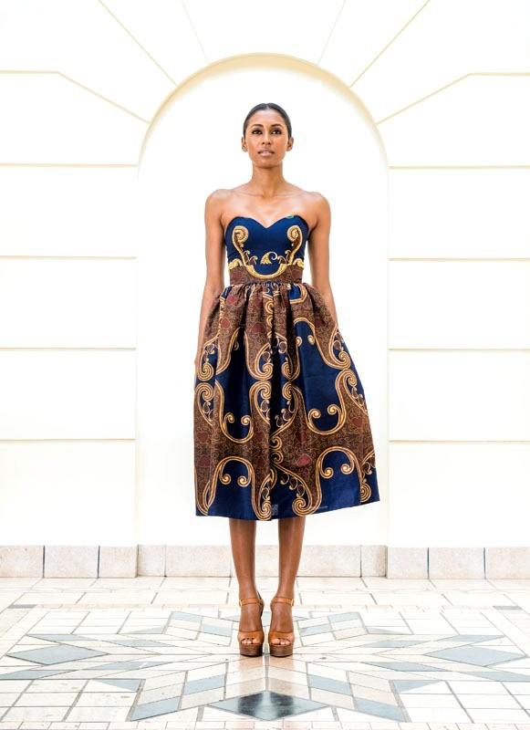 Dress by Taibo Bacar.