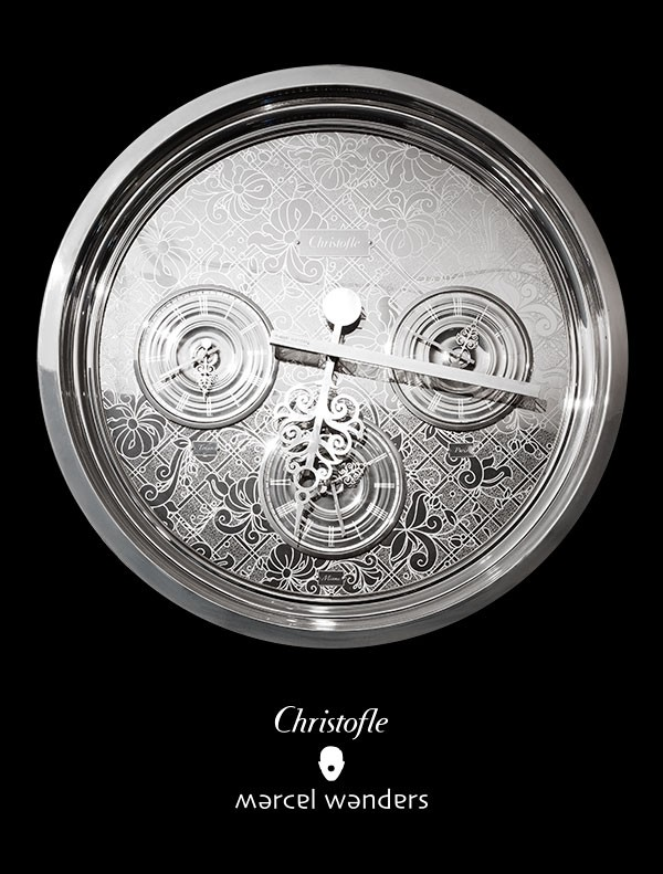 Marcel Wanders clock for Christofle.