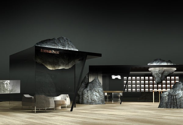 Mathieu Lehanneur's lounge design for Audemars Piguet.