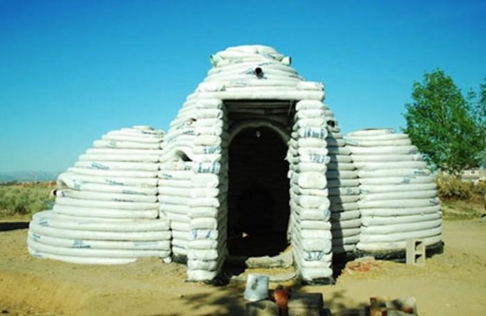 Sandbag house by Cal Earth.