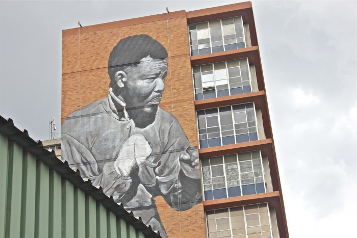 Madiba mural by Freddy Sam.
