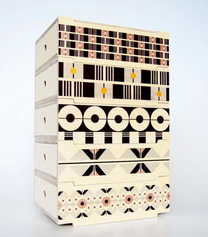 2DO Stackable Storage Tower by De Steyl + Renée Rossouw Studio.
