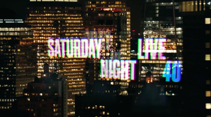Saturday Night Live's 40th Anniversary Season.