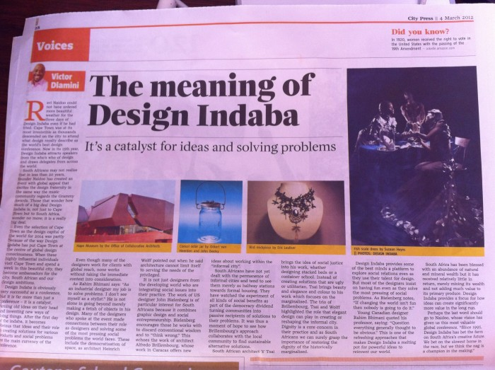 The meaning of Design Indaba by City Press