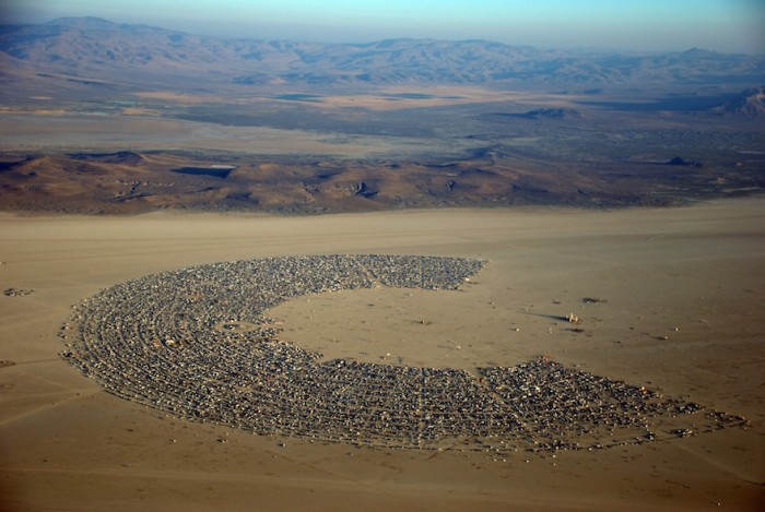 A shot of the Playa at Burning Man Festival by Will Roger.