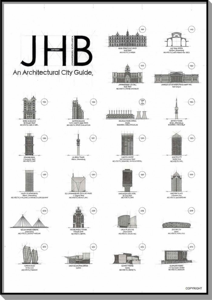 JHB, an architectural city guide by Blank Ink Studios.