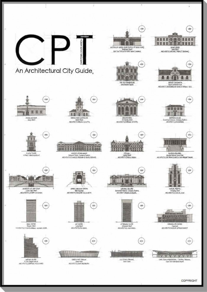 CPT, an architectural city guide by Blank Ink Studios.