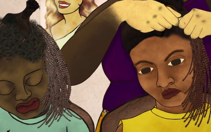 Ng'endo Mukii: Still from 'yellow fever', animated with mixed mediums
