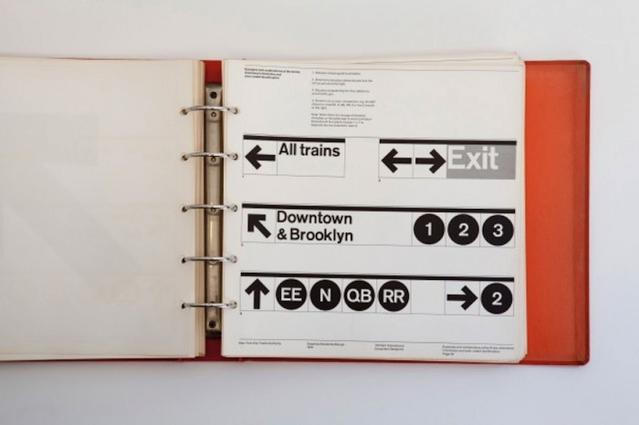 Massimo Vignelli's manual on the NY subway signs was turned into a book on design.