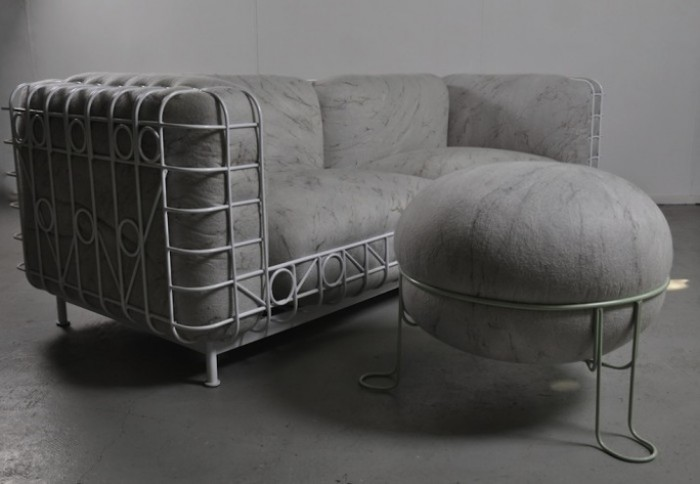 Veld Couch and Pebble Stool by Dokter and Misses and Ronel Jordaan.