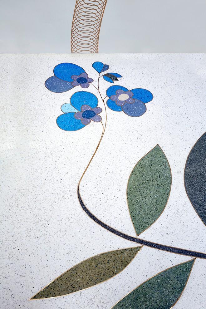 Terrazo floor by Jonas Wood