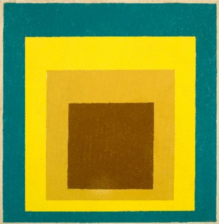 """Study for Homage to the Square: Still Remembered"" by Josef Albers."