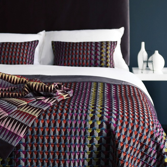 The highly decorative designs incorporate lots of pattern and colour.