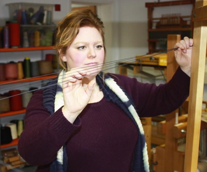 All Margot Selby designs begin on a 24-shaft dobby loom.