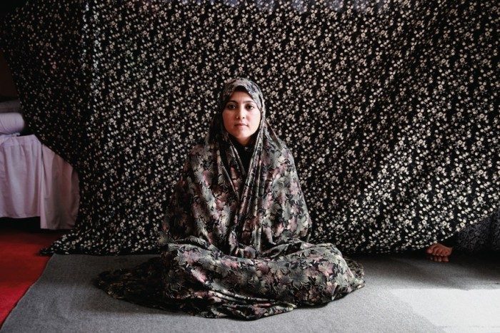 A female inmate in Afghanistan photographed by Gabriella Maj for her book 'Almond Garden'.