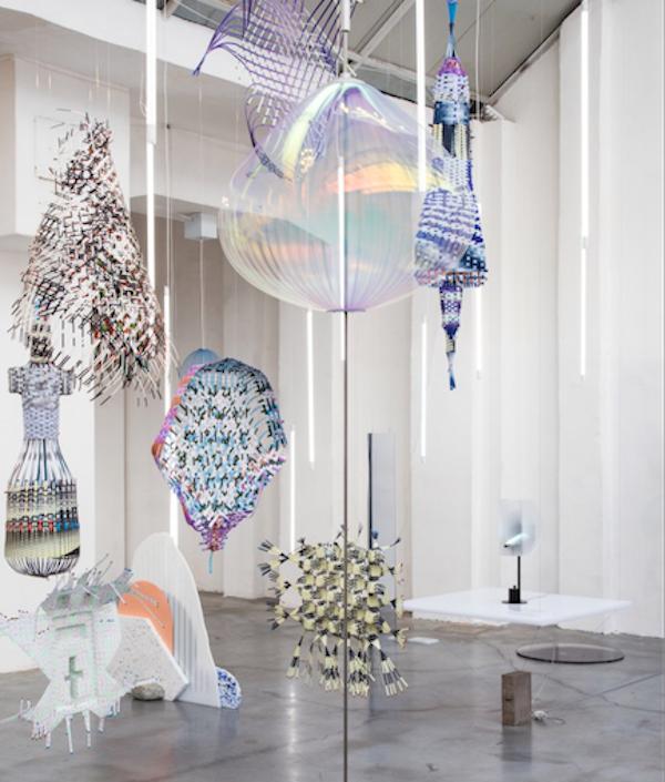 "Jetske Visser and Michiel Martens' glass sculpture ""Holon""."