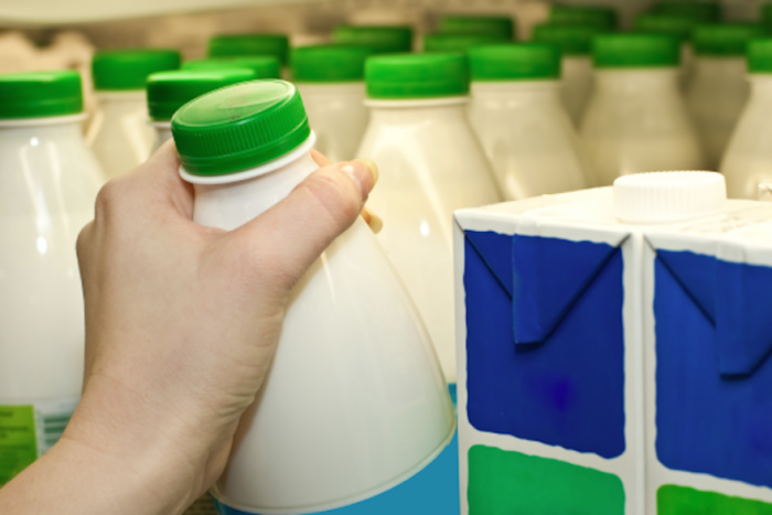 Researchers have designed a colour-changing milk container lid that lets you know if the milk is turning sour.