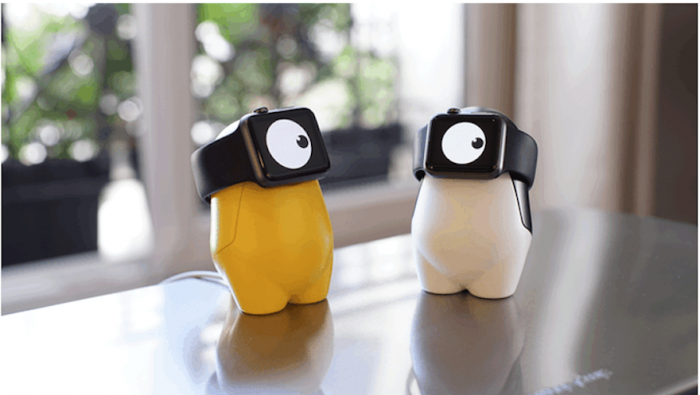 The WatchMe stand fits both sizes of Apple watch