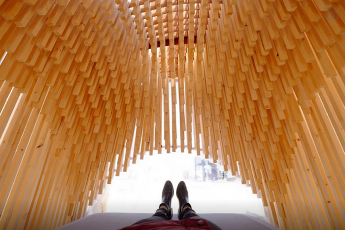 A view from inside Carved from wood by Studio Plots