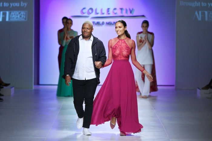 Tuelo Mguyuza at Mercedes-Benz Fashion Week Cape Town