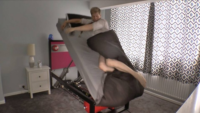Colin Furze's Wallace & Grommit inspired ejector bed