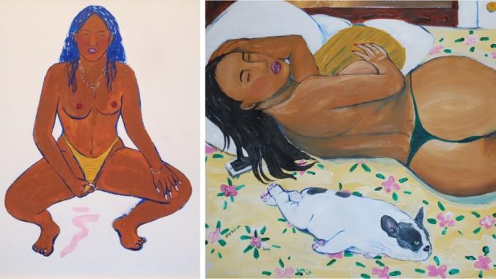 Monica Kim Garza paints women in all their curvaceous glory. Images: Monica Kim Garza