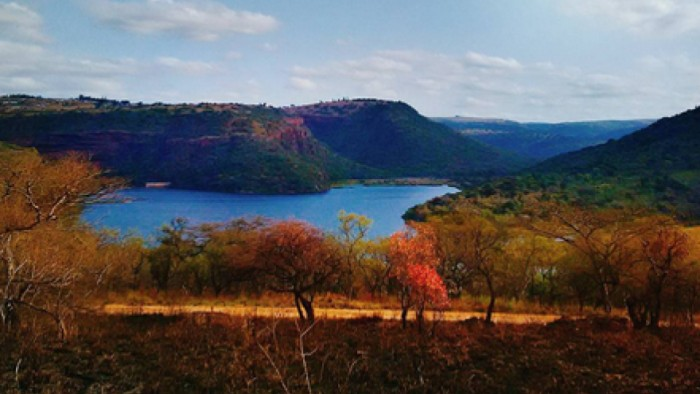 A view from Shongweni Dam in Durban.