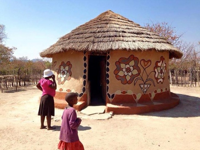 A hut decorating competition that could give urban homes a for Interior designs zimbabwe