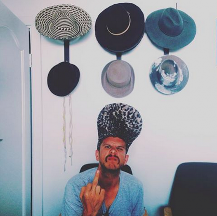 Jack Parow pays Birch a visit in her studio.
