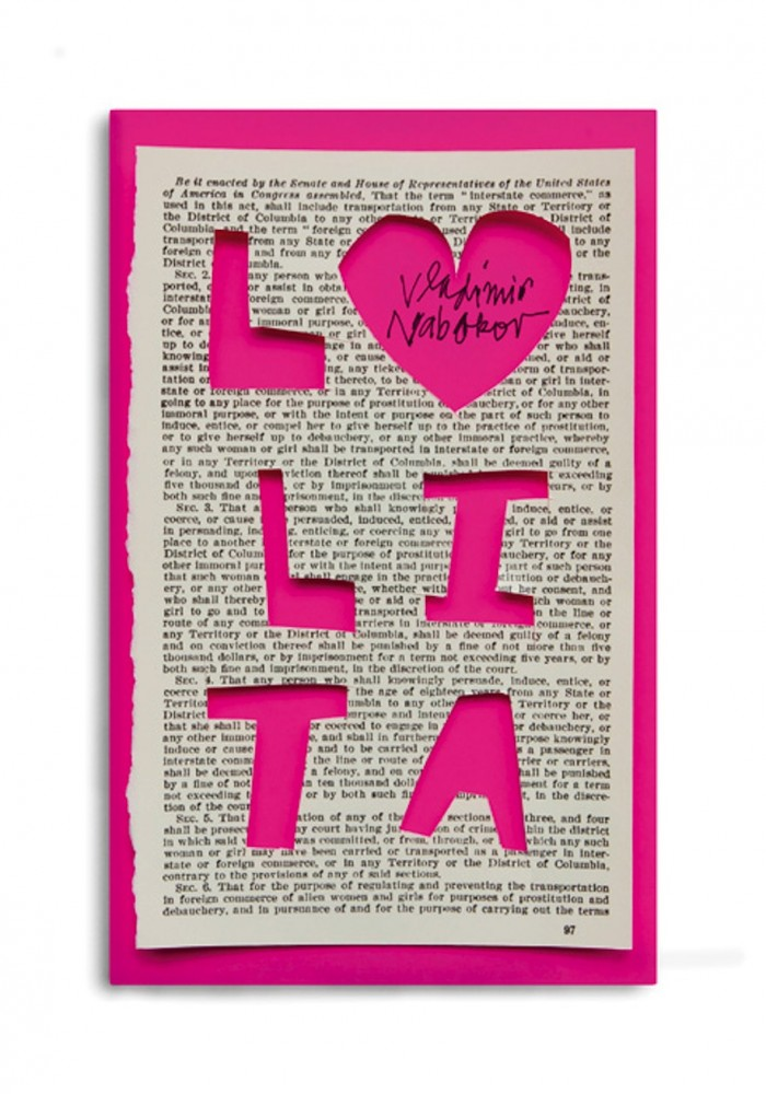 "The cover for the book ""Lolita: The Story of a Cover Girl"" by Vladimir Nabokov. © Pentagram"