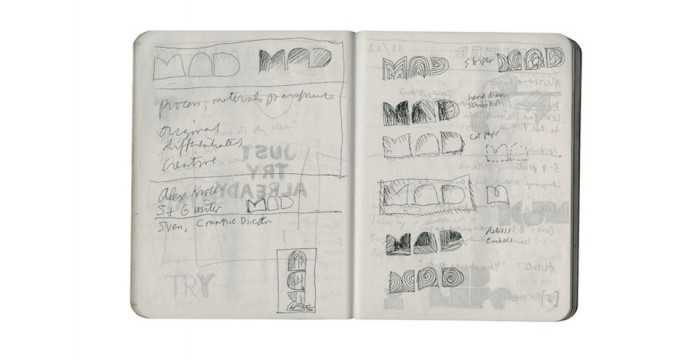 """Process, materials, transformation"" – sketch in composition book © Pentagram"