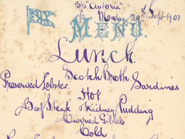 The British Menu Archive – a selection of historical and beautiful menus, normally an ephemeral part of food culture but actually a revealing historical resource