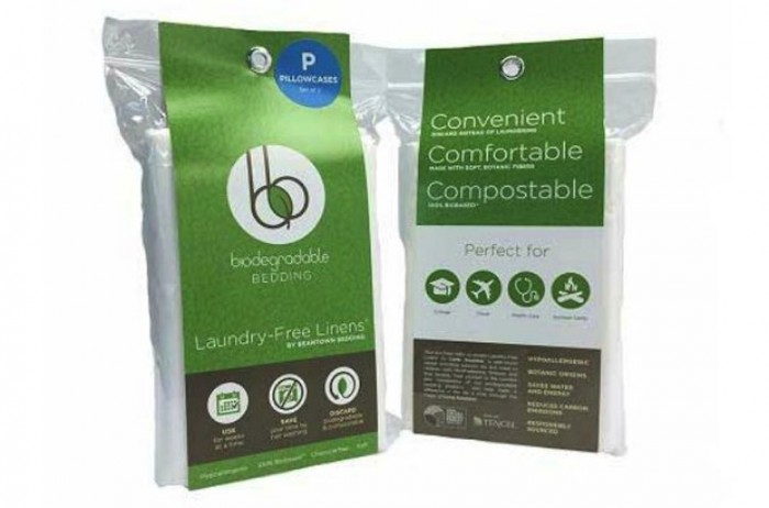 Beantown Bedding has created biodegradable bed sheets that can be used for a few weeks and then thrown into the compost