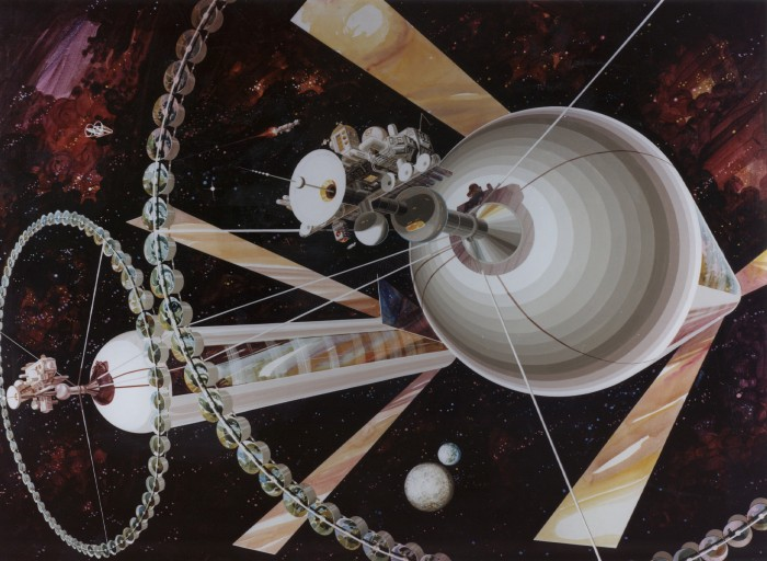 Living in space would look something like this.
