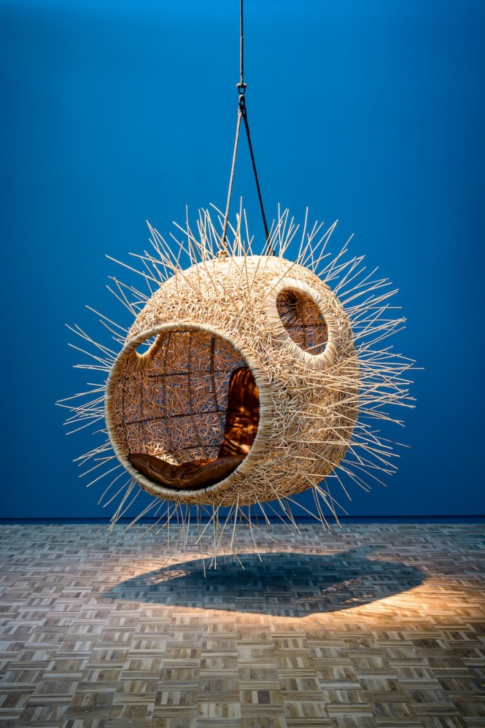 Cape Town-based designer Porky Hefer has created bizarre human-scale nests, inspired by fantastical underwater creatures. Image: Adriaan Louw