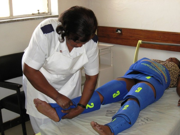 Originally designed for astronauts, the Lifewrap is a first-aid garment used to stabilise women who are suffering from obstetric haemorrhage and shock.