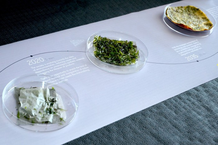 Mosskin, a textile designed by Eindhoven graduate Tye Tze Yu, is a living textile designed to treat female burn victims
