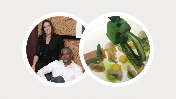 Veejay Archary & Marisa Holley nominated a vegetarian dish created by Candice Philip renowned chef at the Five Hundred Restaurant at the Saxon Hotel