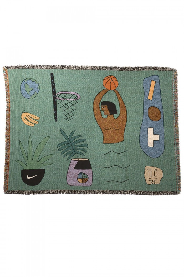 tropical themed woven blankets by designer lilian martinez design