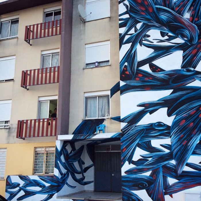 Portuguese artist's massive murals are an ode to nature