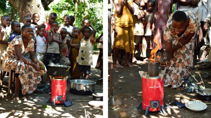 Mimi Moto clean cookstove in use